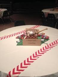 baseball wedding table decorations i decorated the tables for my son s high baseball banquet