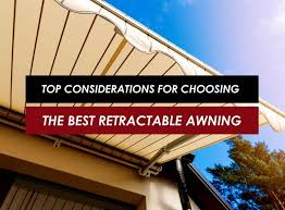 Retractable Waterproof Awnings Top Considerations For Choosing The Best Retractable Awning