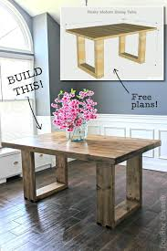 Modern Dining Room Sets How To Build A Chunky Modern Dining Table Free Plans By Jen