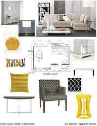 Room And Board Dining Room concept board for an apartment living and dining room jill