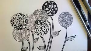 how to make a zendoodle zentangle inspired flowers zendoodle beginner