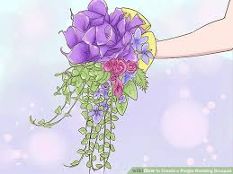 purple wedding bouquets how to create a purple wedding bouquet with pictures wikihow