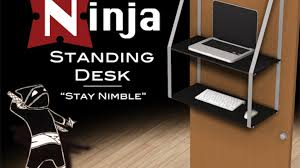 Standing Desk For Cubicle Ninja Standing Desk By Dan Mcdonley U2014 Kickstarter