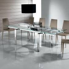 Modern Glass Dining Table Set Chair Round Glass Dining Table And Black Chairs Starrkingschool