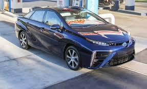 hydrogen fuel cell car toyota 2016 toyota mirai hydrogen fuel cell sedan first drive u2013 review