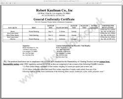fabric certification