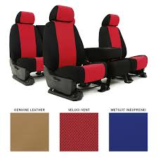 Auto Seat Upholstery Coverking Custom Fit Seat Covers 3 Different Materials To Choose From