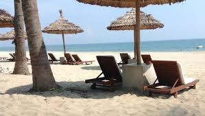 deck chairs on beach at palm garden resort picture of palm garden