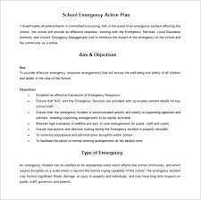 emergency response plan template emergency action plan template