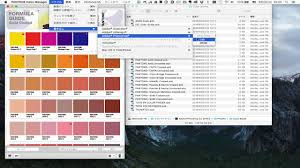 pantone color manager から photoshop のカラーライブラリへの