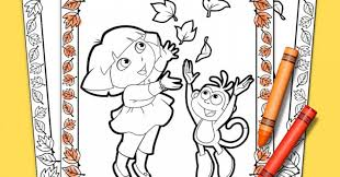 coloring pages glamorous dora explorer thanksgiving coloring
