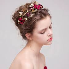 hair accessories for brides flower bridal hairstyles gold leaves butterfly