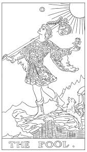 the tarot card coloring book book by g c
