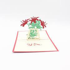 Mother Blessing Invitation 3d Laser Cut Handmade Flower Lily Paper Blessing Greeting Cards