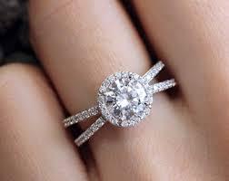 split band engagement rings split band engagement ring etsy