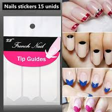 nails sticker tips guide french manicure nail art decals form