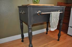 drab to fab old sewing table to new kitchen island