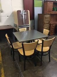 Break Room Table And Chairs by Used Break Room Set