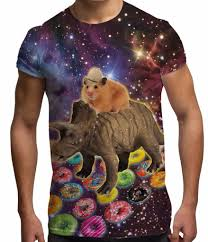 s graphic tees dinosaur hamster sublimation t shirt