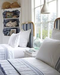 Blue Twin Bed by Twin Bed Decked Out In Navy U0026 White Riviera Headboard Via Serena
