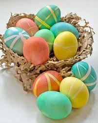 easter egg masking easter egg dyeing ideas lace plaid and stripes martha