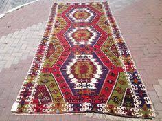 Large Kilim Rugs Vintage Orange And Black Kilim Rug 101 5 U0027 U0027 X 70 U0027 U0027 Rug Turkish