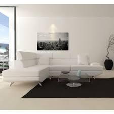 canapé d angle noir et blanc pas cher scoop xl canapé d angle gauche simili 4 places 259x182x80 cm