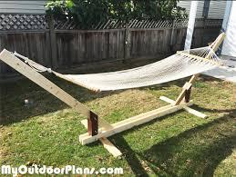 diy wood hammock stand plans myoutdoorplans free woodworking
