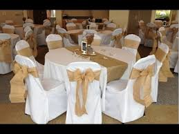 wedding chair bows burlap wedding chair sashes