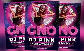 girls night out free psd flyer template free download