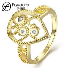 white gold color rings for wedding feast jewellery trendy