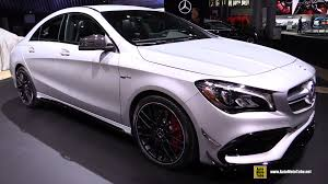 mercedes 45 amg white 2017 mercedes amg cla45 exterior and interior walkaround debut