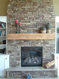 interior unique stacked stone fireplace idease with curve shaped