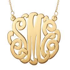 gold monogram necklace gold monogram necklace jewelry