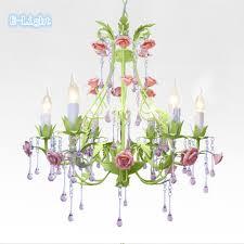 Chandelier Pink 6ls Chandeliers Bedroom L Flower Personalized