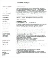 sample marketing manager resume collection of solutions marketing