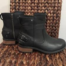 ugg womens motorcycle boots 38 ugg shoes ugg lined boots from stefanie s