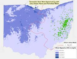Wind Speed Map Fracking Vs Ohio U0027s Renewable Energy Portfolio A False