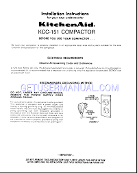 Built In Trash Compactor by Contemporary Kitchenaid Trash Compactor Manual In White To Design