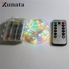 led christmas lights with remote control 10m 100led battery operated string lights dimmable fairy lights with