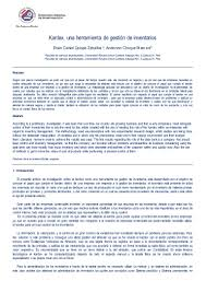articulo kardex una herramienta de gestión de inventarios