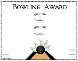 blank certificates bowling award certificate template