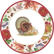 buy thanksgiving fall plaid assortment paper plates cups napkins
