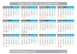 Kalender 2018 Hd Template Kalender 2018 Format Coreldraw Hanya Ada Satu Safembrik