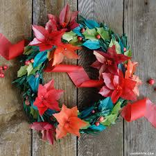 tissue paper holiday wreath template and tutorial