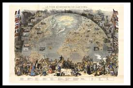 World Map Prints by Le Tour Du Monde Antique World Map Old Maps And Prints Wall