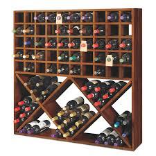 storage u0026 organization jumbo bin grid 100 bottle wine rack walnut