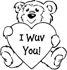 valentine coloring sheet free printable valentines pages book