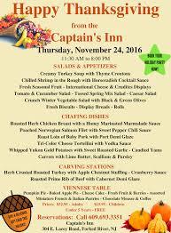 captain s inn thanksgiving day buffet forked river gazette