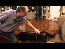 round dining table perimeter leaves expendable mahogany round six leaf perimeter dining room table youtube